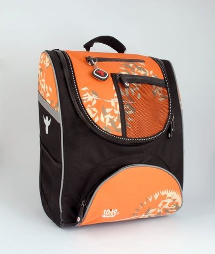 TOITO WEAR Ranzenrucksack-Set Orange (5-tlg)