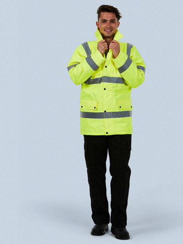 Uneek UC803 Road Safety Jacket / Jacke / Warnschutzjacke - orange / gelb -